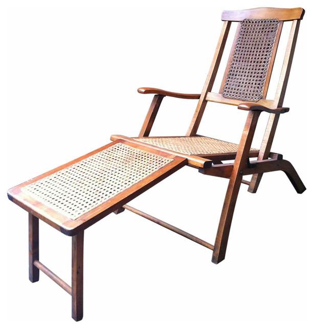 Steamer Deck Chair Mediterranean Outdoor Lounge Chairs new york by Se