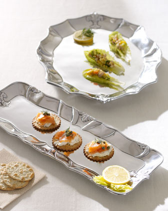 Arthur Court Fleur-de-Lis Oblong Tray traditional-platters