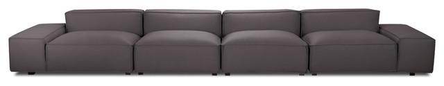 Easy II Dark Grey 4-Seat Sofa modern-sofas