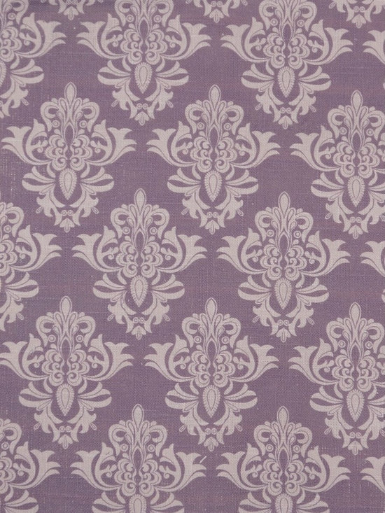 Phoebe Printed Medium-scale Damask Linen Custom Made Curtains - This design is simple yet effective. With graphic medium-scale damask print against Pear, Lavender pink, Pink, Linen, or Plum background, these textured panels are surely to liven up your room.