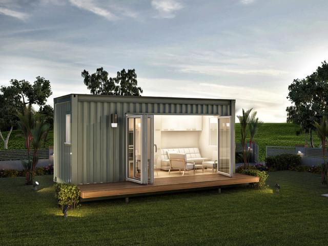 Monaco granny flats prefab container home modern for Modular granny flats