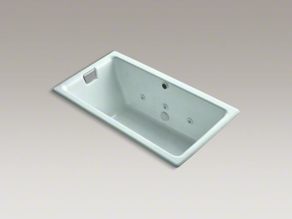 """KOHLER Tea-for-Two(R) 66"""" x 36"""" drop-in whirlpool bath with reversible drain, cu contemporary-fire-pits"""