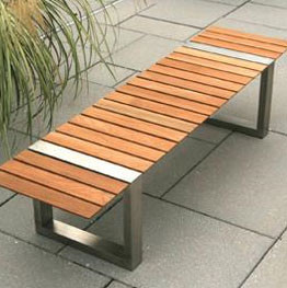 Modern Outdoor Benches : Boca Backless Bench By Kingsley Bate - Modern - Outdoor Benches