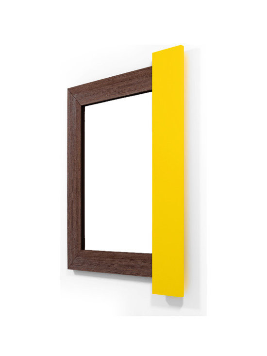 Mango Dun Wenge-Yellow Caramel - If it is truly said that eyes are the reflection of our soul, wall mirrors are the reflection of our home. Why settle with dull frames that won´t share anything with us?