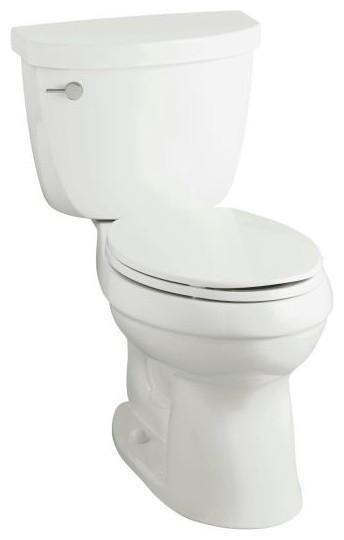 KOHLER K-3609-0 Cimarron Comfort Height Two-Piece Elongated 1.28 GPF Toilet contemporary-toilets