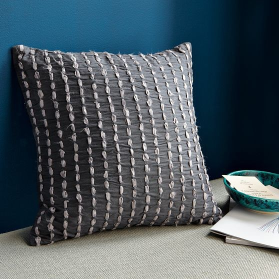 Decorative Pillows At West Elm : New Shredded Ribbon Pillow Cover - Modern - Decorative Pillows - by West Elm