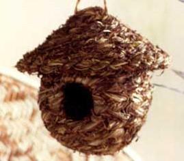 Roost Grass Birdhouse contemporary-birdhouses