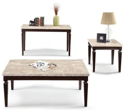 White Marble Top Coffee Tables: Agatha White Beige Marble Top Coffee Table With Stylish
