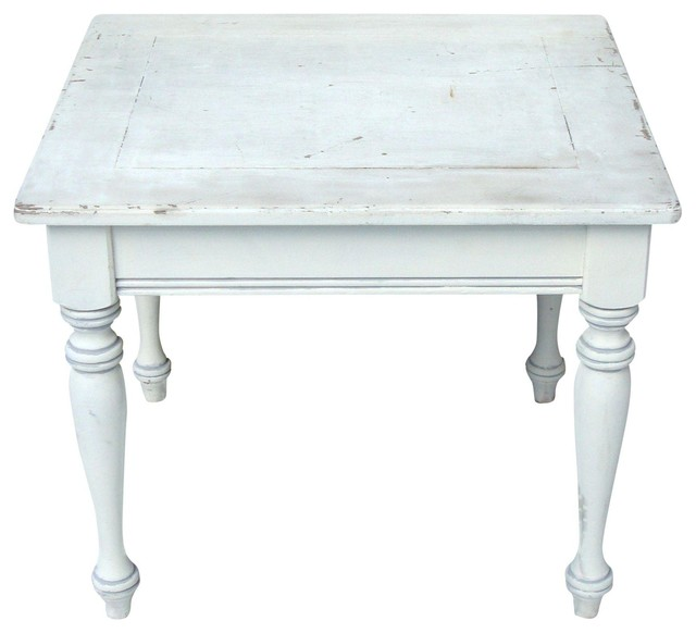 French Country Distressed Coffee Table: Consigned French Country Distressed Wood Table