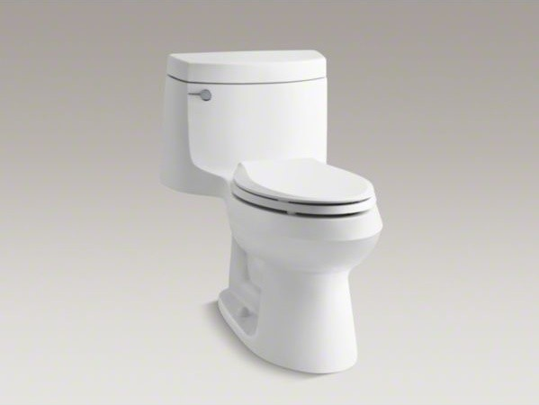 KOHLER Cimarron(R) Comfort Height(R) one-piece elongated 1.28 gpf  toilet with A contemporary-toilets