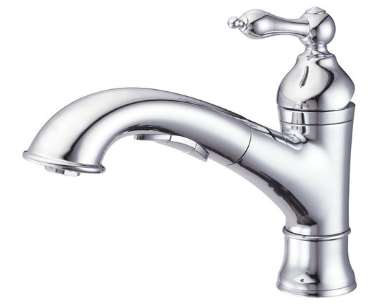 Danze Fairmont™ Single Handle Pull-Out Kitchen Faucet - - 3 function: spray/aerated stream/pause.