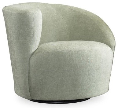 Sam Moore Zoe Swivel Chair with Right Arm - Spa modern-office-chairs