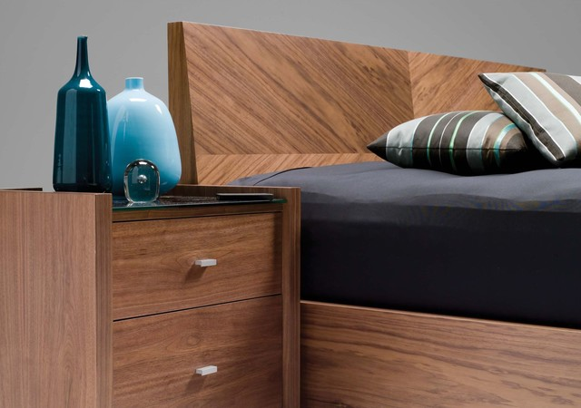 Diva Natural Walnut Storage Bed contemporary-beds