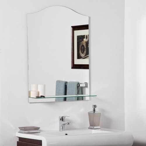 this unique and contemporary frameless wall mirror with