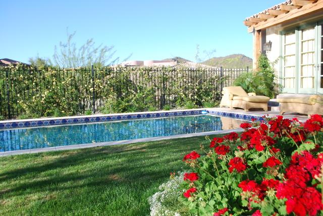 Outdoor Living at it's best mediterranean-pool