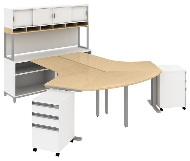 dog leg 2 person station contemporary desks and