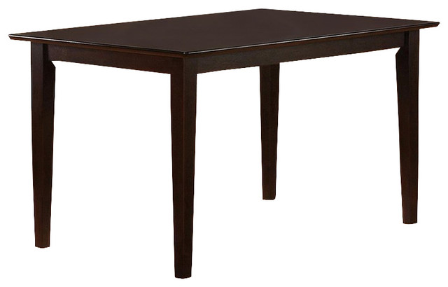 Casual Dining Leg Table In Cappuccino Transitional Dining Tables
