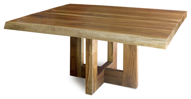 Dining Table Solid Raw Edge Wood Contemporary Dining Tables