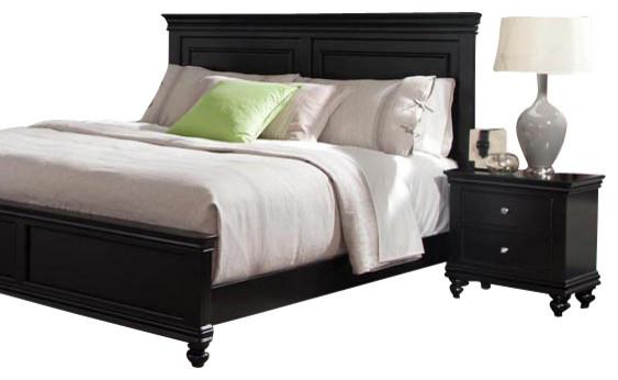 Standard furniture essex black 2 piece panel bedroom set for Bedroom furniture essex
