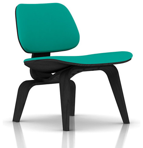 Eames Plywood Upholstered Lounge Chair, Gem Fabric - Ebony Frame midcentury-armchairs-and-accent-chairs