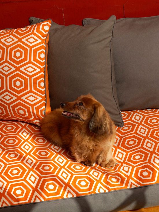 Metor Collection - Honeycomb Series - Honeycomb series in Tangerine color.