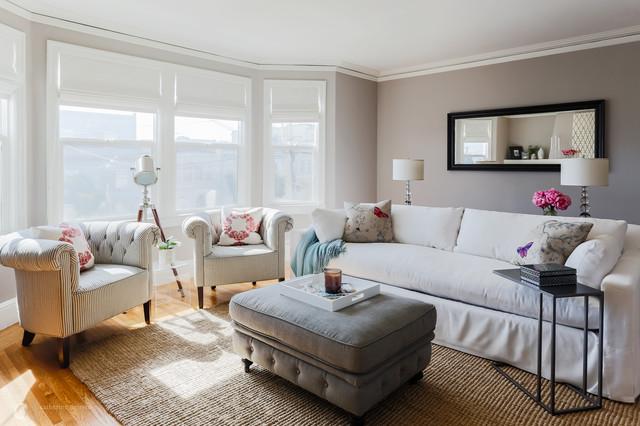 Zen inspired refresh transitional living room san for Zen inspired living room ideas