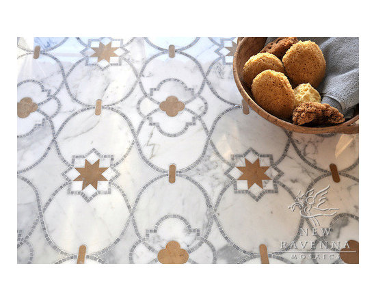 Stone Mosaic - Vittoria mosaic is  inspired by the patterns and textures  of the  Mediterranean and Spanish Colonial architecture and interiors.