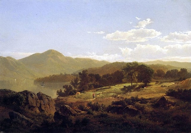 William Trost Richards Lake George, Opposite Caldwell   Print traditional-artwork