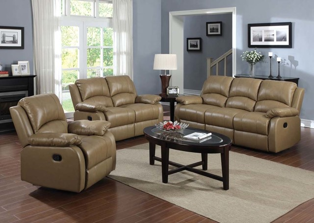 Top Grain Leather Reclining Sofa Loveseat Rocker Recliner Motion Couch Contemporary Sofas
