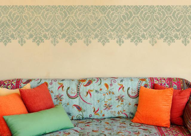 Moroccan Lace Stencil eclectic-wall-stencils
