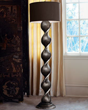 John-Richard Collection Twisted Column Floor Lamp traditional-floor-lamps