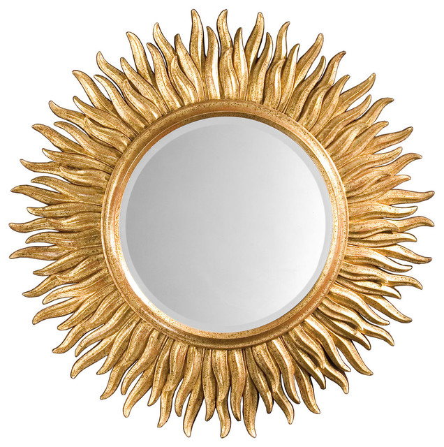 Sunburst mirror traditional wall mirrors by inviting for Sunburst mirror