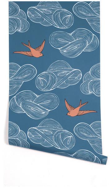 Daydream Wallpaper, Blue modern-wallpaper