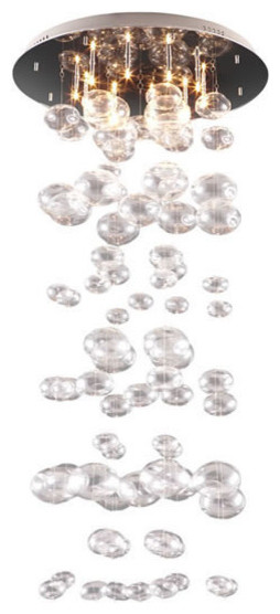 Inertia Ceiling Lamp, Clear contemporary-ceiling-lighting