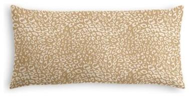 Tan Leopard Print Custom Lumbar Pillow contemporary-decorative-pillows