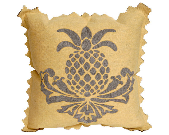 Liora Manne Yellow Pineapple Throw Pillow