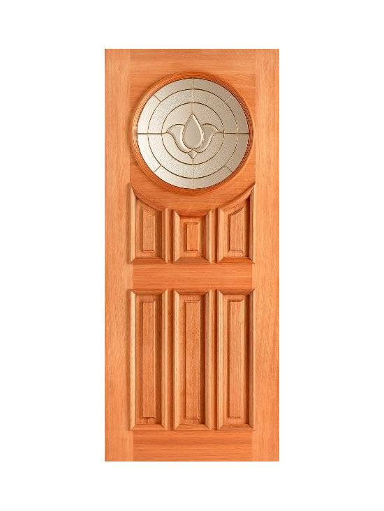 Doors by ABL Doors - This elegant door has a unique brass pattern which allows for the door to  really stand out on the street. Your neighbours will be impressed by the hardwood Sandown style of this door.
