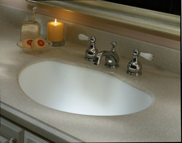 Corian Savannah Countertop Traditional Vanity Tops And Side Splashes New York By Dolan