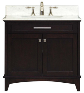 "Manhattan Collection 30"" Wide Single Sink Vanity modern-bathroom-vanities-and-sink-consoles"