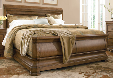 Louie P's Sleigh Bed traditional-beds