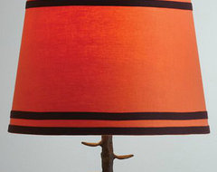 Orange Double Ribbon Table Lamp Shade eclectic-lamp-shades