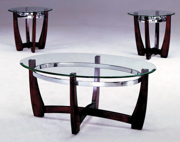 Mitchell 3 piece table set modern columbus by for Furniture of america architectural inspired dark espresso coffee table