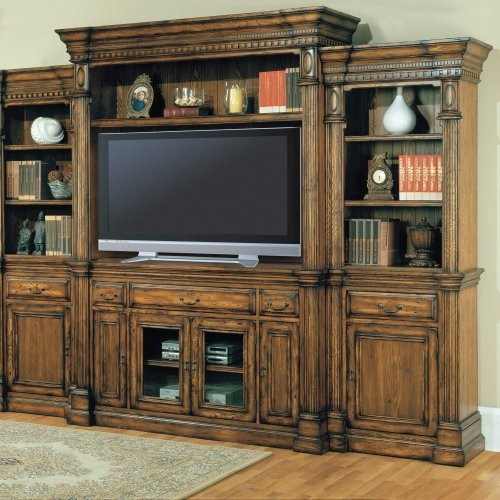 Parker House Canterbury Estate Wall Entertainment Center traditional media storage