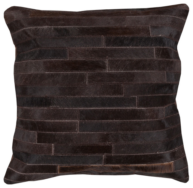 Decorative Pillows Rustic : Ewing Rustic Lodge Tile Hair on Hide Pillow - 18