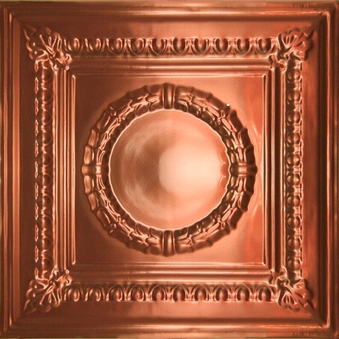 2407 Alumium Ceiling Tile - Polished Copper - 2ft x 2ft  wallpaper