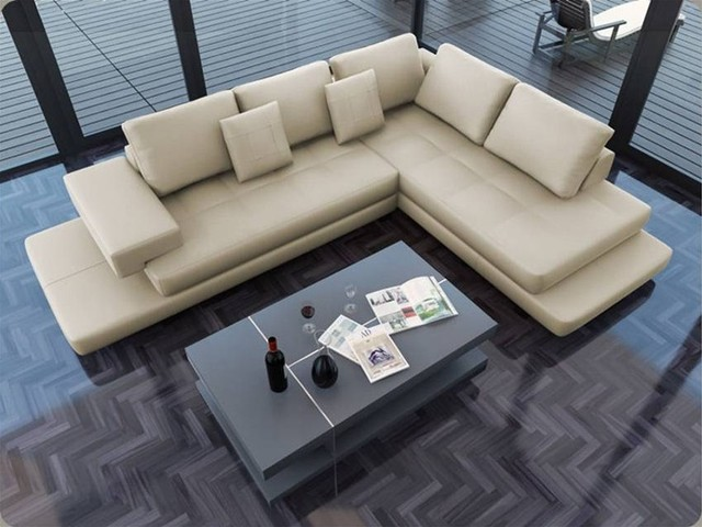 Torano signature leather sectional modern sofas los for Modern sectional sofa in los angeles