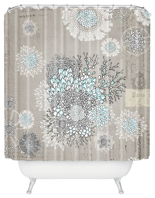 Iveta Abolina French Blue Shower Curtain eclectic-shower-curtains