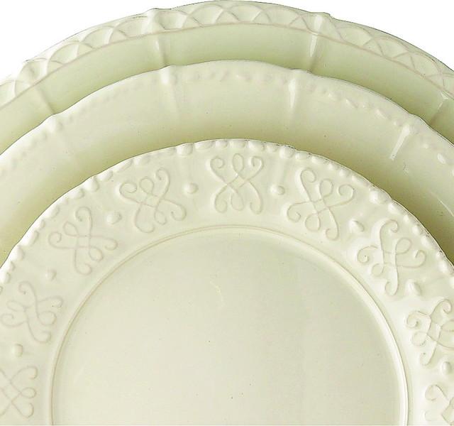 Mediterranean Style Dinnerware: Historia Parchment Dinnerware