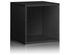 Way Basics Stackable Large Storage Cube (perfect for Record Albums, LPs, Vinyl S modern-storage-units-and-cabinets