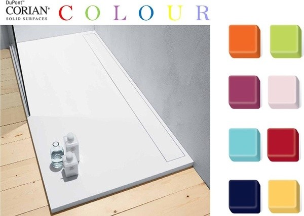 COLOURED SHOWER TRAY traditional-bathroom-accessories